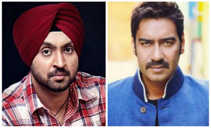 diljit-dosanjh-Ajay-Devgan-bollywood-movie-Baadshaho