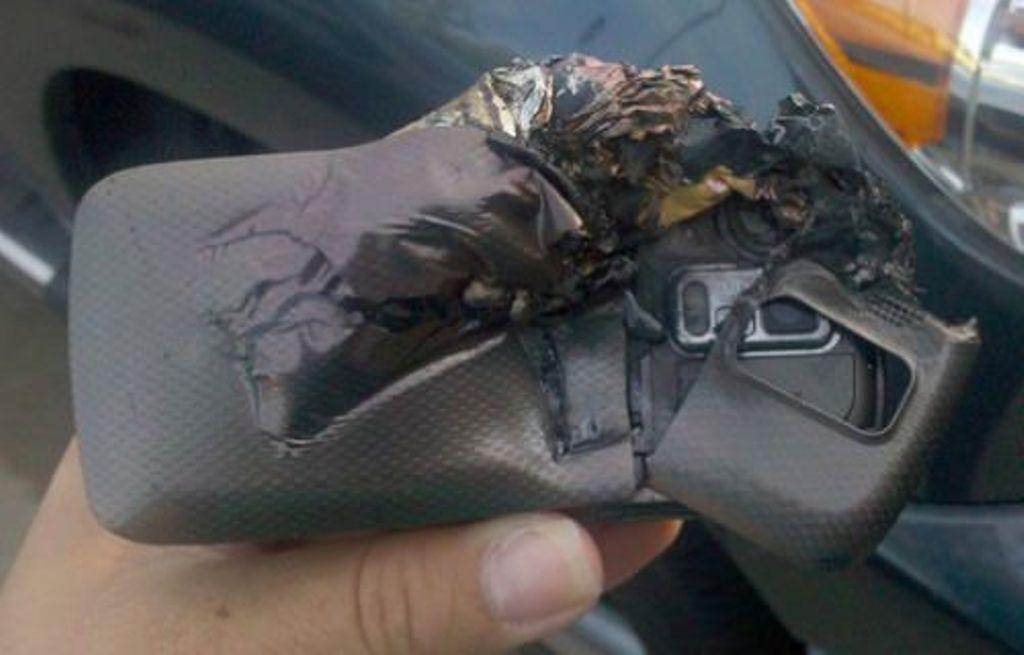 Damaged mobile