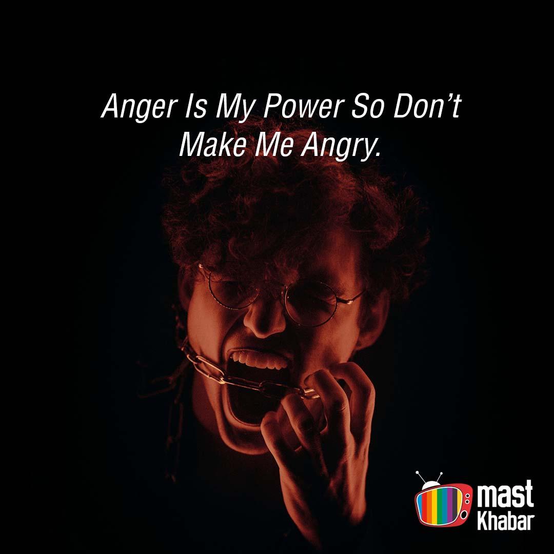 Angry mood status